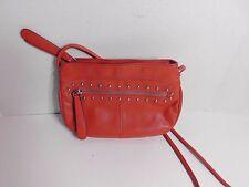 B MAKOWSKY - Crimson red color leather cross body bag
