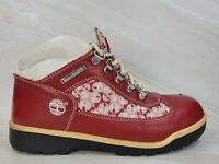 Timberland Womens Euro Hiker Leather Hiking Boots Red White Size 6.5 M