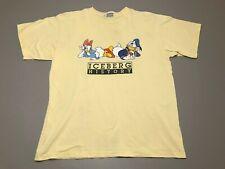 Vintage ICEBERG HISTORY Disney Donald & Daisy Duck Yellow T-Shirt Adult Size 2XL