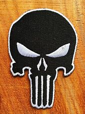 White&Black Color Special Forces Punisher Patch Velcro Navy Seals Iron On Patch