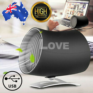 USB Desk Fan Cooling Rotatable MINI Ultra Quiet Portable Touch Control Summer AU