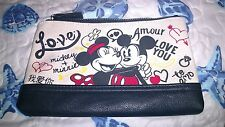 Walt Disney Mickey Loves Minnie Mouse Travel Cosmetic Clutch Bag New With Tags