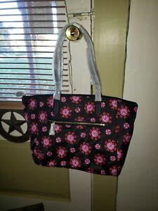 NWT Michael Kors Kelsey Nylon Women's Large Top Zip Tote Bag Handbag Travel Bag