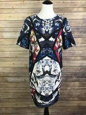 Asos Womens Size 8 US/12 UK Hawaiian Pink Blue Floral Shift Dress