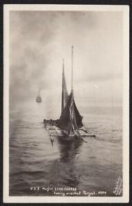 Port Townsend, WA Pre-1920 RPPC USS Mayor Evan Thomas Towing Target