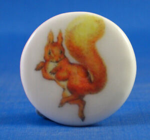 China Button -- Beatrix Potter Squirrel Nutkin - One Inch Size ( 25 mm )