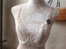 M&S Autograph Rosie 32DD Lux/Silk Design Lace Non/P Balcony Bra Ivory-NEW-Bridal