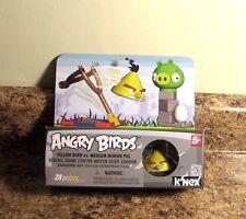 K'Nex Angry Birds Building Set Yellow Bird Vs Medium Minion Pig 72601 New