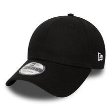 NEW ERA MENS 9FORTY BASEBALL CAP.GENUINE BASIC BLACK CURVED PEAK ADJUSTABLE HAT