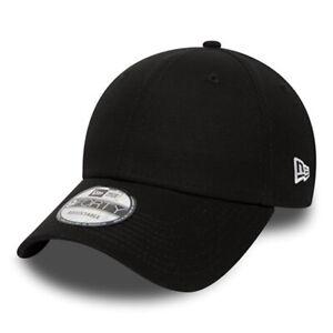NEW ERA MENS 9FORTY BASEBALL CAP.100% GENUINE BLACK CURVED PEAK ADJUSTABLE HAT