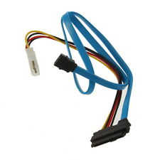7 Pin SATA Serial ATA to SAS 29 Pin & 4 Pin Cable Male Connector Adapter AA