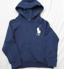 POLO RALPH LAUREN boys 2T navy blue napless fleece French terry hoodie big pony