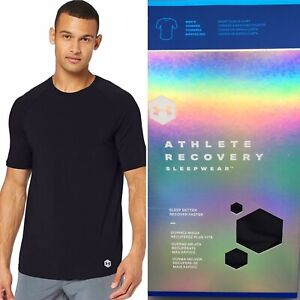 Under Armour Recover Sleepwear Short Sleeve Shirt Athlete Recovery BLACK S M L