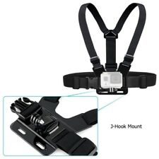 2PCS J-Hook Mount Head Strap Chest GoPro Hero 1 2 3 Camera Accessories Set Kit