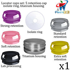 Dental Implant Locator Silicone Set 5 Retention Caps 1 Ring 1 Housing