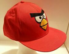 Angry Birds Red Parrot Strapback Cap Bird is the Word Baseball Game Hat Costume