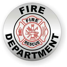 Fire Department Helmet / Hard Hat Decal / Sticker Vinyl Label Rescue Firefighter