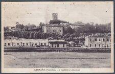 PIACENZA SARMATO 05 CASTELLO - INTERNO STAZIONE Cartolina viaggiata 1939