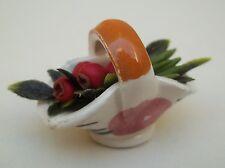 panier avec légumes miniature,maison de poupée,vitrine,jardin,épicerie,  **CL3