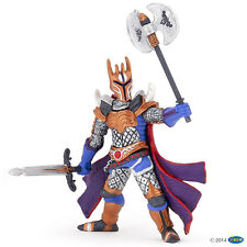 Knight with Triple axe silver 10 cm knight and Castles Papo 36004
