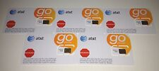 Lot of 5 New At&T Sim Card For Go Phone Prepaid Service 3G Sku72287