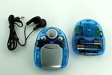 FM Auto Scan Radio Blue with Built in Light and Earbud Headphones