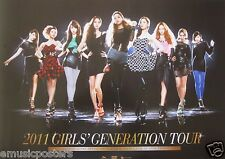 "GIRLS GENERATION ""2011 TOUR"" ASIAN PROMO POSTER- K-Pop Music, Korean Girl Group"