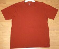 Small Levis Dockers T-Shirt Orange Cotton Men's Crewneck Tee Shirt Short Sleeve