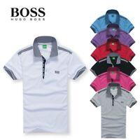 Classic Mens casual pure cotton short sleeve POLO tee shirt T-shirt Men's shirts