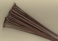 """100 14"""" Inch Long 50# Pound BROWN Nylon Cable Zip Ties Ty Wraps MADE IN USA"""
