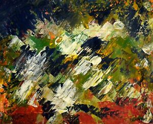 Oil Canvas Canadian Quebec School Signed Riopelle
