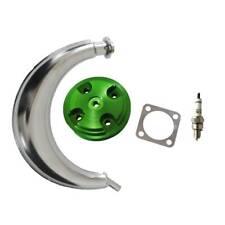 CNC Green Cylinder Head Cover&Muffler Exhaust For 66cc 80cc Motorized Bike