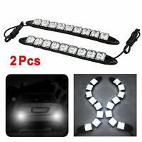 2X 12V 9LED Car DRL Fog Driving Daytime Running Lamp Waterproof Turn Light WHITE