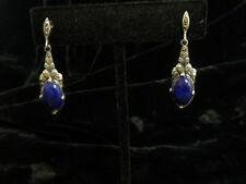 New Old Stock Sterling Silver And Sodalite Earrings