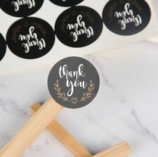 120pcs Thank You Heart Stickers Baking Label Gifts Package Sealing Round Stikers