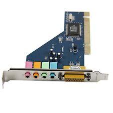 4 Kanal 8738 Chip 3D Audio Stereo PCI Soundkarte Win7 32 64 bit Pop