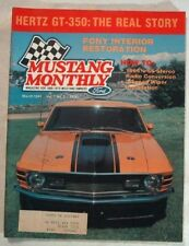 MUSTANG MONTHLY 1984 MAR - TRUE STORY OF THE GT350Hs