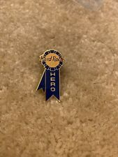Hard Rock Cafe Staff Blue Ribbon Hero Pin Old Style Rare