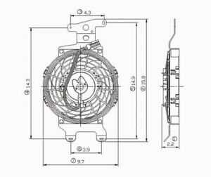 Engine Cooling Fan TYC 600670
