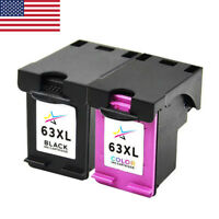2pk Ink Cartridges Combo Replace for HP 63XL Envy 4520 Officejet 3830 4650