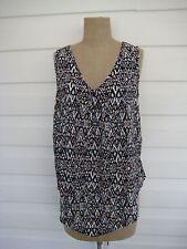 Regular Geometric Tunic Sleeveless Tops and Blouses for Women