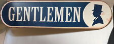 Metal GENTLEMEN Sign Man Cave Bar Office Restaurant Decor Restroom Vintage Style
