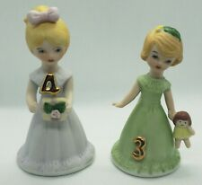 Lot of Enesco Growing up Girls Age 3 & 4 Blonde (3) Still In Box
