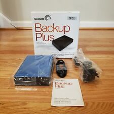 Seagate Backup Plus Desktop Hard Drive USB 3.0 5TB External PC/Mac (Open box)