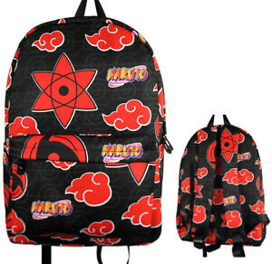 Naruto Uzumaki Red Cloud Backpacks anime School Backpack Casual bag new