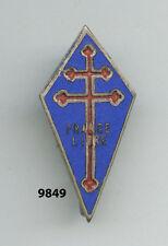 Insigne marine , Forces Navales Françaises Libres  , ( H.33mm., avec devise  )