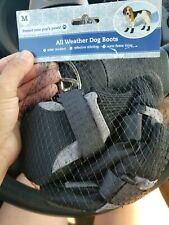 Black /Grey All Weather Dog Boots Size Medium Reflective NEW