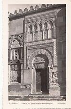 BF17317 cordoba vista de una puerta exterior la mezquita spain  front/back image