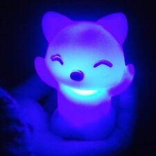 Mignon Fox Chat Forme Couleur Changer LED Lampe Enfants Nuit Lumière