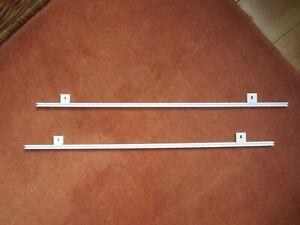SCHÖNER WOHNEN 2 x Vorhangschiene Gardienenstange 1-Lauf Weiß für Schal Gardine